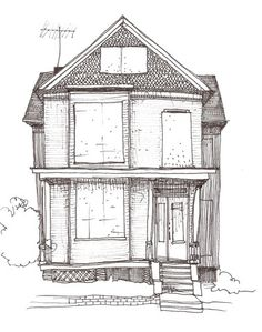 nice drawing of a house