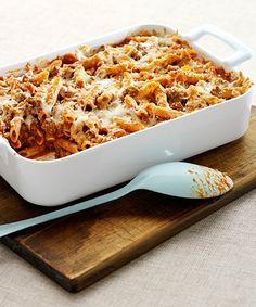Easy Italian Pasta Bake | Kraft® Recipe. Jarred spaghetti sauce makes this recipe even easier! #pastabake