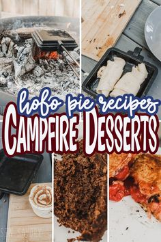 A list of delicious hobo pie recipe to make easy camping desserts in your backyard or on you next camping trip. Campfire pie maker desserts are easy and tasty! Mountain Pie Maker, Mountain Pie Recipes, Mountain Pies, Campfire Pies, Campfire Desserts, Campfire Recipes, Camping Menu, Camping Foods, Backpacking Meals
