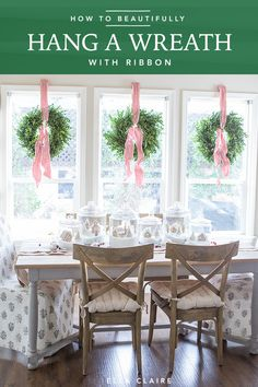 Ribbon Tying Tutorial How to hang a wreath with ribbon so it hangs straight- an easy DIY tutorial for beautiful Christmas wreaths every time! Source by theexchange Christmas Wreaths For Windows, Indoor Christmas Decorations, Holiday Wreaths, Holiday Decor, Wreaths In Windows, Christmas Trees, Shop Windows, Classy Christmas, Rustic Christmas