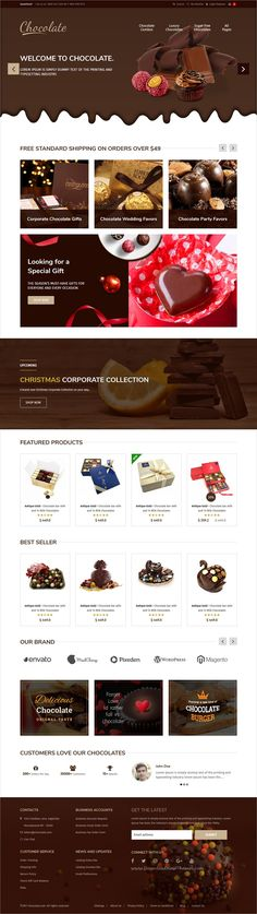 Chocolate, coffee, #Cakes store and #Bakery website
