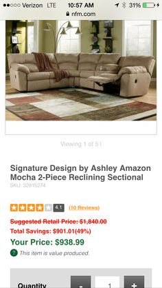 Sectional. Nebraska Furniture Mart  sc 1 st  Pinterest : nebraska furniture mart sectionals - Sectionals, Sofas & Couches