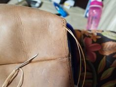 Leather Tote - DIY : 7 Steps (with Pictures) - Instructables Diy Leather Tote, Leather Store, Sewing Leather, Leather Craft, Leather Working Patterns, Diy Tote Bag, Leather Projects, Purses