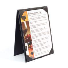 Buckram Easel Menu Holder - The Smart Marketing Group - Hospitality