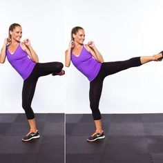 roundhouse kick stair drill