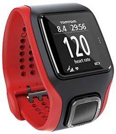 TomTom Runner Cardio GPS Running Watch-Rosso/Nero (Ricondizionato Certificato)