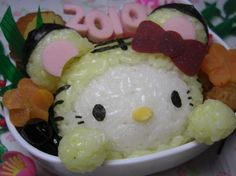 pretty Japanese Food Art, Japanese Lunch Box, Japanese Bobtail, Cute Food, One Design, Hello Kitty, Culture, Dishes, Pretty