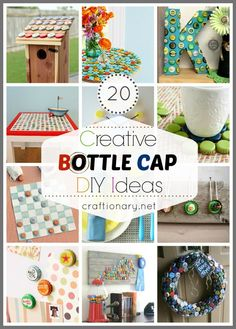 Creative bottle cap crafts #recycle #bottlecaps