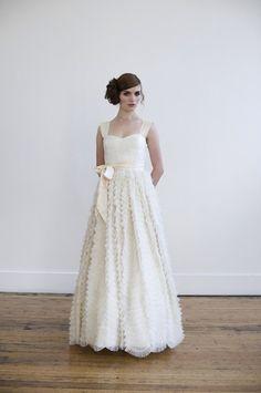 Tea/Blush wedding gown — Elizabeth Dye