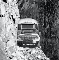 """A Jeep & an Airstream, of course:-) """"They wouldn't listen when they were told not to try to pull a trailer over the… Van 4x4, Dangerous Roads, Offroader, Airstream Trailers, Airstream Decor, Airstream Basecamp, Airstream Camping, Airstream Interior, Vintage Airstream"""
