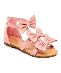 Look at this Yokids Pink Bow Cute Sandal on #zulily today!