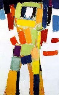 """Nicolas De STAEL - Abstract Art - """"Figure"""", 1954"""