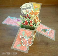 Popup Box Karte Stempelsets: Backyard Basics, Etwas ganz Besonderes, Im Fähnchenfieber, Wimpeleien Farben: Savanne, Safrangelb, Stampin'Up