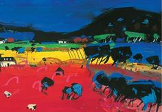 'Cadmium and Blue' By Hamish MacDonald, Scottish Artist.Limited edition medium lithogrphic print .http://www.hamishmacdonaldprints.com/medium-litho-prints