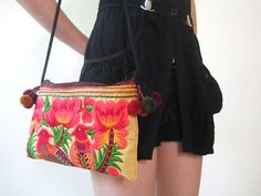 LannaThaiCreations  Hmong SmallThai Shoulder Ethnic Bag