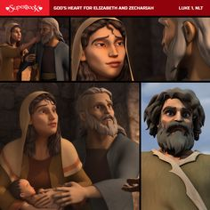 God's heart for Elizabeth and Zechariah brings John the Baptist! Story Video, God's Heart, Memory Verse, John The Baptist, Daughter Of God, Hope Love, Bible Stories, Verses
