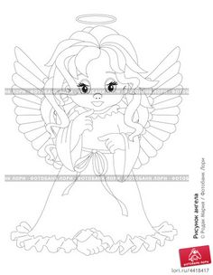 Рисунки ангела с крыльями раскраска и купидоны 132