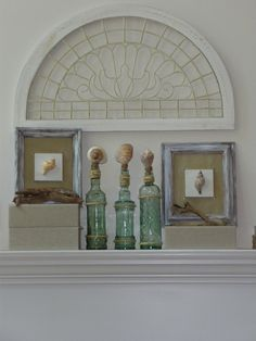 Recycled project with shells...old frames...so easy and inexpensive to make...you'll love this summer decor!
