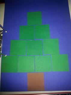 Kerstboom blokjesboek