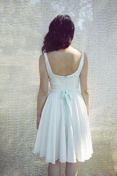 Cotton dot dress.