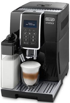 DeLonghi Dinamica ECAM 350.55.B  DeLonghi Dinamica ECAM 350.55.B: Koffiemachine met veel mogelijkheden De DeLonghi Dinamica ECAM 350.55.B helpt jou om keer op keer de perfecte koffie te bereiden met slechts een druk op de knop.Dankzij het LatteCrema-systeem maakt de koffiemachine automatisch de beste cappuccino's en latte macchiato's.Daarnaast kun je in het MY menu los met koffie-experimenten maak bijvoorbeeld een doppio of een caffè latte. De bediening is eenvoudig dankzij het Easy Touch…