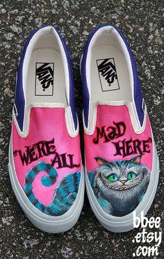 Chesire Cat Custom Kicks!! Thats what's up!! :D