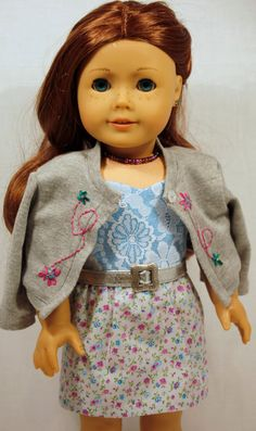 Embroidered Cardigan and Lace Bodice Dress by AuroraandLuna via Etsy  $30.00