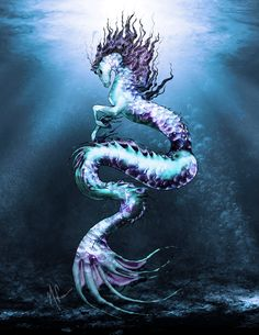 The hippocampus was a fabled sea animal from Greek mythology. It was found in classical myth. It resembles a horse with the hind parts of a fish or dolphin. The chariot of Poseidon was drawn by a hippocampus. The name comes from the Greek hippos, horse; and kampos, sea monster.