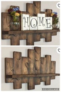 Scrap Wood Crafts, Wooden Pallet Projects, Pallet Crafts, Woodworking Projects Diy, Diy Home Crafts, Diy Home Decor, Woodworking Wood, Scrap Wood Art, Rustic Wood Crafts