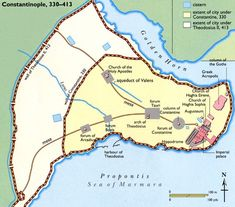 Map Of Constantinople Hagia Sophia Pinterest Constantinople