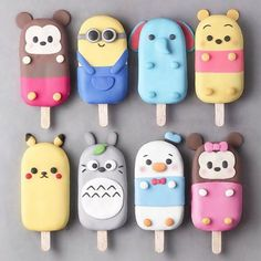 1 2 3 4 5 6 7 or Foodie Recipes Dinner Lunch Breakfast DIY Pictures Recipe Quick Fast How To >>Re Disney Desserts, Cute Desserts, Disney Food, Cute Snacks, Disney Stuff, Cute Polymer Clay, Cute Clay, Magnum Paleta, Cute Baking