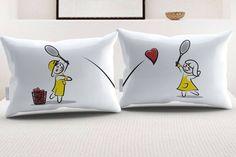 """StellaMia """"Tennis"""" Pillowcase Set for Couples"""