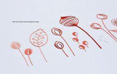 Wild Pods modern hand embroidery pattern par KFNeedleworkDesign