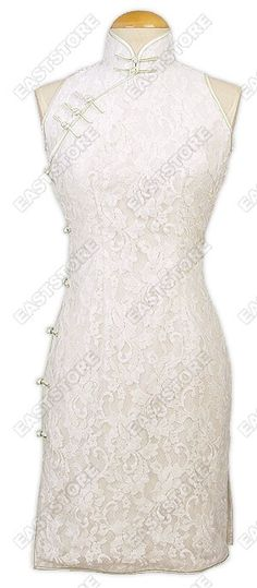Traditional Lace Cheongsam : EastStore.com