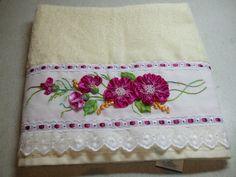 banheiro Toalha bordada para o banheiro Riscos para bordado em toalhas