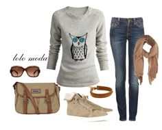 LOLO Moda: Casual wear for women...I am not thrilled by the owl but cute outfit