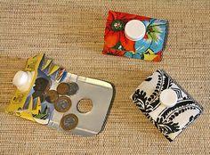 Estojo para pequenos objetos feito de tetrapack. #craft #recycle #artesanato