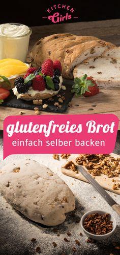 Rezept für glutenfreies Brot selber backen Cereal, Dairy, Cheese, Breakfast, Post, Medium, Flourless Bread, Gluten Free Breads, Just Bake