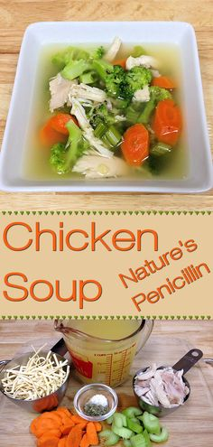 Easy Chicken Soup aka Nature's Penicillin by Foodie Home Chef. A delicious, easy to make comfort food for lunch or a light dinner. It's also a great home remedy for when you're down with a cold or the flu! #ChickenSoup #SoupRecipes #Soup #ChickenSoupRecipes #HealthyRecipes #KetoRecipes #ComfortFood #LunchRecipes #ColdRemedies #FluRemedies #HomeRemedies #NaturalRemedies #FoodieFarmacy #foodiehomechef @foodiehomechef