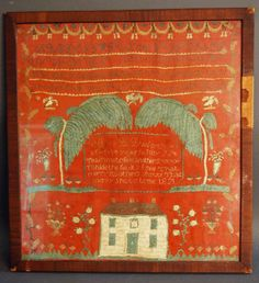 Antiques and the Arts Online - 'I've Never Seen A Red Sampler' Heard At Withington Auction As It Hits $35,200