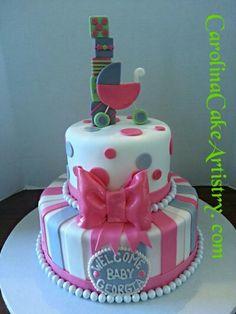 Precious baby shower cake!