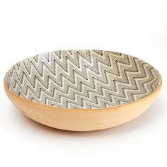 Serving Bowl / Medium / Chevron / Charcoal