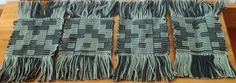 4 Mug rugs that was woven by me!