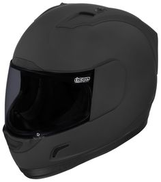The non-reflective matte black Rubatone finish and included Dark Smoke ProShield give you a monotone look that goes well with. Note: The Icon Alliance Dark Includes both Dark Smoke and Clear face shields. Full Face Motorcycle Helmets, Full Face Helmets, Motorcycle Gear, Riding Gear, Riding Helmets, Bike Helmets, Icon Helmets, Dark Helmet, Motorcycle Equipment