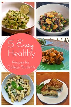 5 EASY, Healthy Recipesfor Busy College Students! Or anyone for that matter!