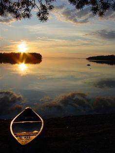 Outdoor camping in Östersund, central Sweden.
