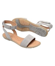 Love this Light Gray Tegal Leather Sandal on #zulily! #zulilyfinds