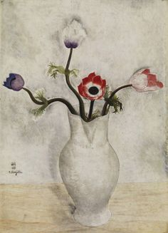 Still life with anemones. 1918 - Léonard Tsuguharu Foujita