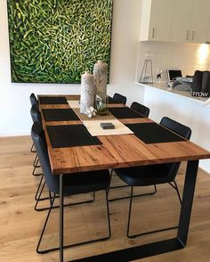 Mixed hardwood King dining table