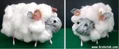From Krokotak: Sheep from toilet paper roll, q-tips, and paper. For kids, use marker for eyes and pipe cleaners for ears. St Georges Day, Eid Crafts, The Lost Sheep, Sheep Crafts, Lord Is My Shepherd, Toilet Paper Roll Crafts, Spring Crafts For Kids, Kindergarten Art, Plate Crafts